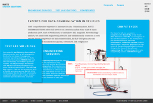 The new website reflects the enhanced portfolio for automotive data communication