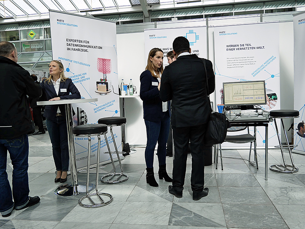 Meet Ruetz System Solutions at the VDI Recruiting Day on Thursday, March 21, 2019 in the MOC in Munich.